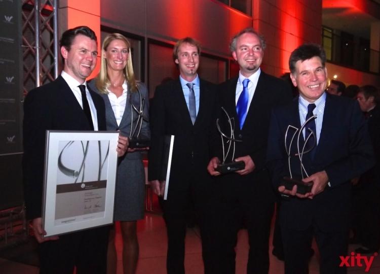 Die glücklichen Gewinner der Wuppertaler Wirtschaftspreise 2011 (xity-Foto: N. Neuhaus)