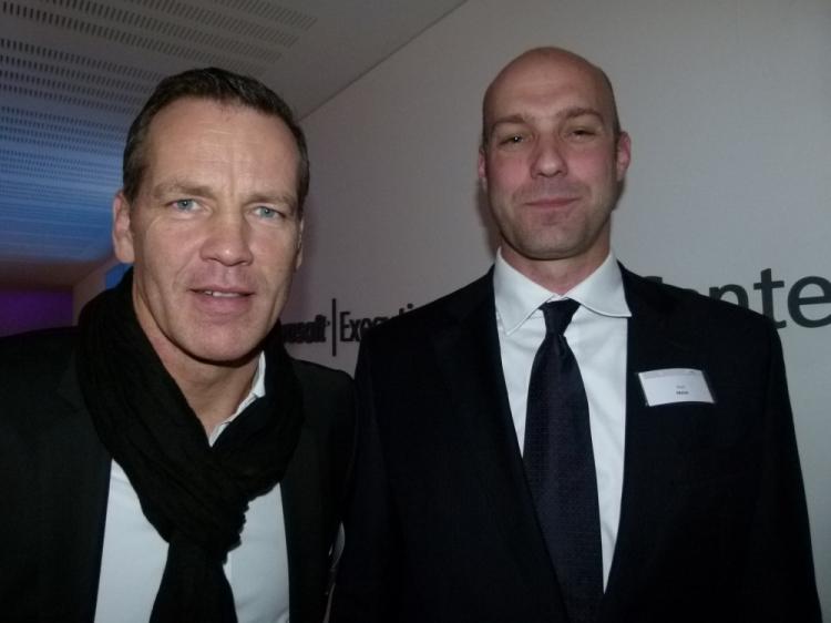 Henry Maske mit Gastgeber Paul Meier (Foto: K.Neddermeyer)