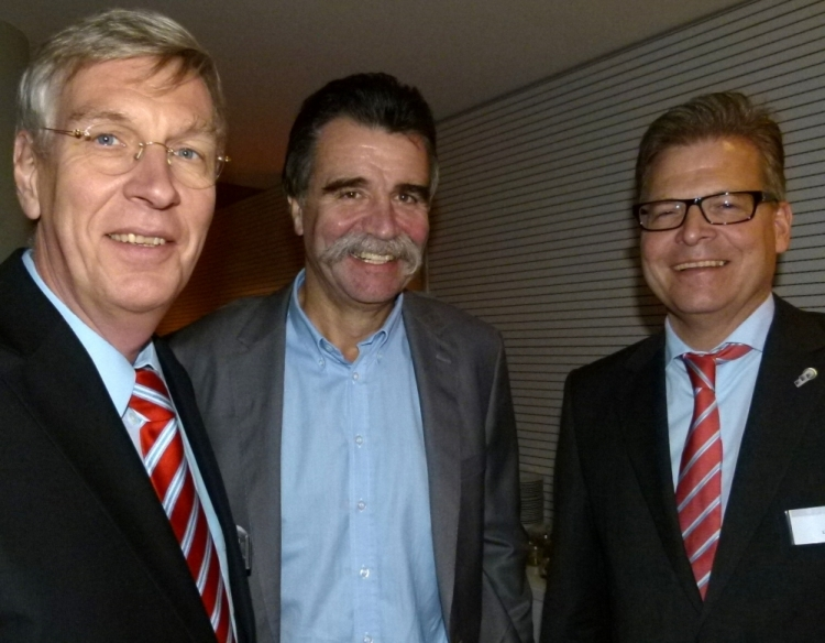 Ingo Wolf, Heiner Brand, Dirk Lindner (Foto: K.Neddermeyer)