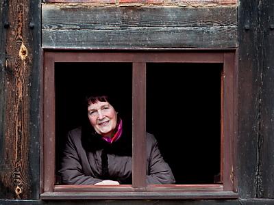 Ute Lucke-Polz hatte eine glückliche Kindheit auf ihrem uralten Bauernhof bei Premnitz (Foto: dapd)