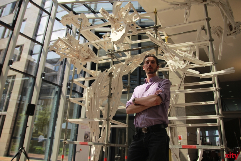 """Der Förderpreis """"Junge Kunst aus der Akademie"""" geht in diesem Jahr an Michael Dekker (xity-Foto: P. Basarir)"""