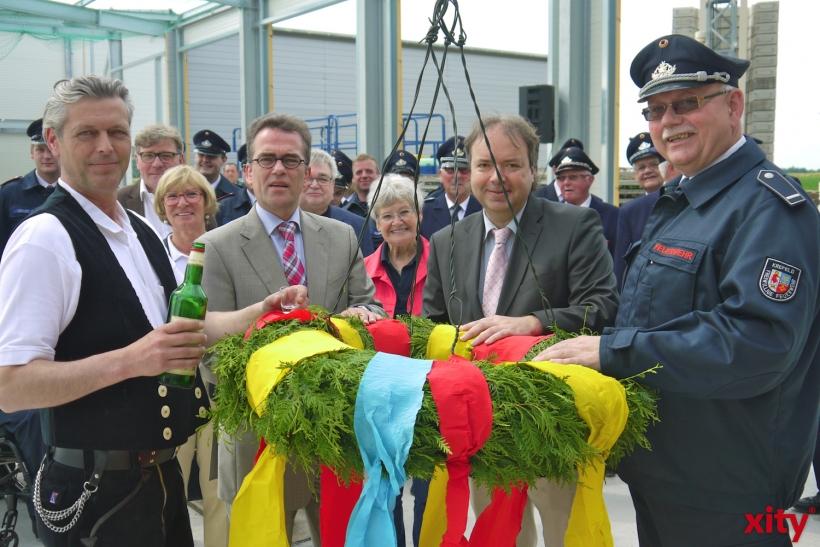 Richtfest für das neue Feuerwehrgerätehaus in Hüls (xity-Foto: E. Aslanidou)