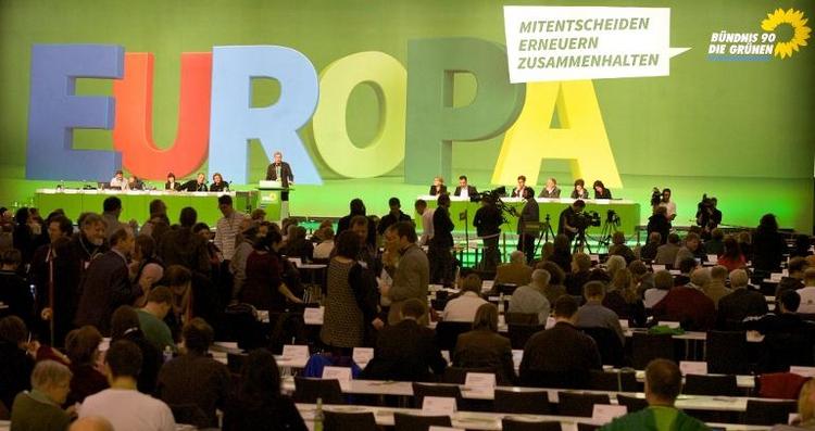 Grüne setzen Parteitag mit Antragsberatungen fort (© 2014 AFP)