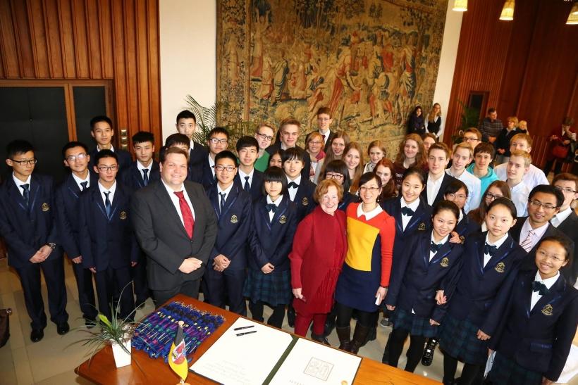 Chinesische Schülergruppe hat Krefeld besucht (Foto: Stadt Krefeld)