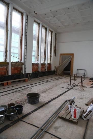 Umbau- und Sanierungsarbeiten im Kaiser-Wilhelm-Museum in Krefeld (Foto: Stadt Krefeld)