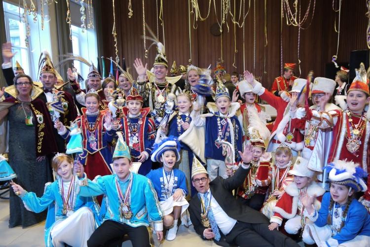 Nachwuchs-Karnevalisten füllten das Rathaus (xity-Foto: E. Aslanidou)