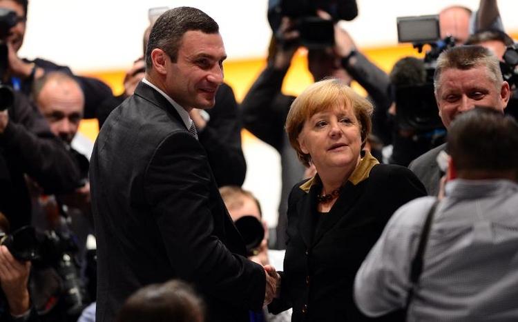 Merkel empfängt Klitschko am Dienstag in Berlin (© 2014 AFP)