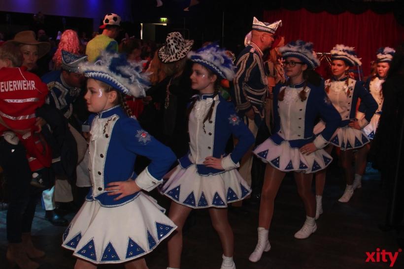 Die Kindertanzgarde Blau-Weiss zeigte ihr Können (xity-Foto: P. Basarir)