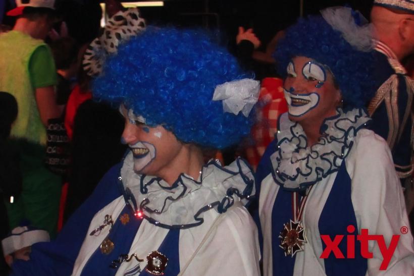 Die Clowns der Prinzengarde Blau-Weiss (xity-Foto: P. Basarir)