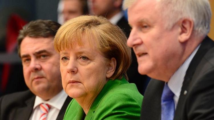 Chefs der Koalitionsparteien beraten über Fall Edathy (© 2014 AFP)