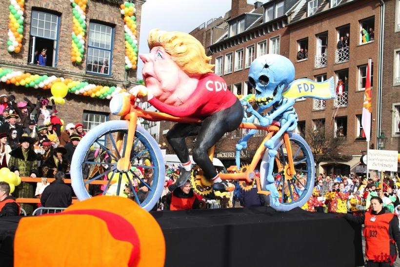 Karnevalsumzug in Alt-Erkrath (xity-Foto:S. Wegemann)