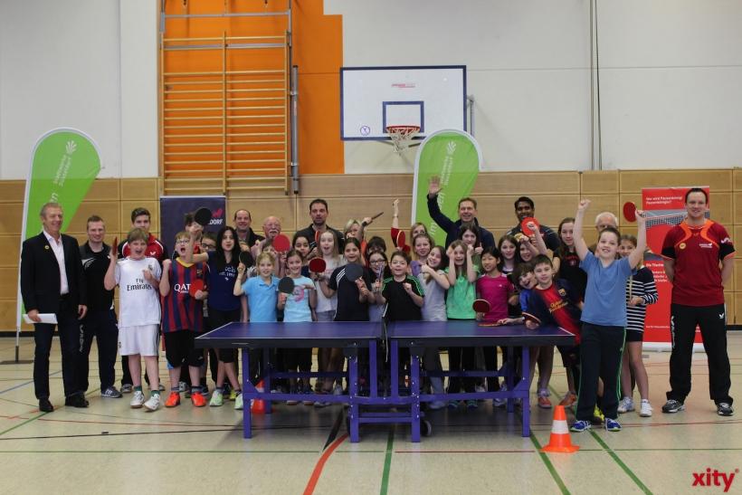 """Kick-Off zum """"Tischtennis-Pausenkönig"""" 2014 (xity-Foto: D. Postert)"""