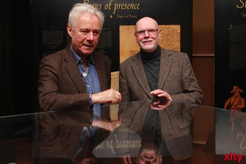 Jerzi Limon, Direktor des neuen Shakespeare-Museums Danzig, und Dr. Winrich Meiszies, Leiter des Theatermuseums Düsseldorf (xity-Foto: P. Basarir)