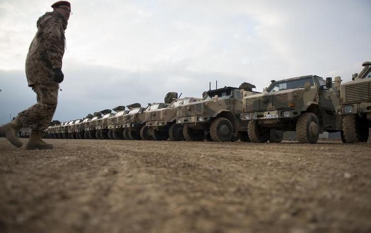 Hälfte des Materials aus Afghanistan wieder zurück (© 2014 AFP)