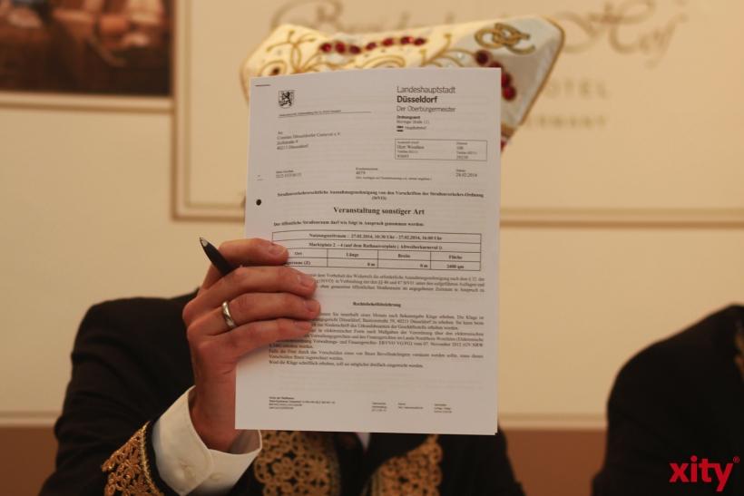 Erst am Montag, 24. Februar 2014, kam die Genehmigung vom Ordnungsamt für die Großveranstaltungen des CC (xity-Foto: P. Basarir)