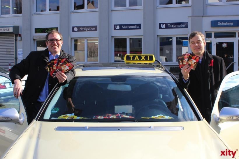 Ab Altweiber verteilen die Taxifahrer rund um die Altstadt wieder Kondome (xity-Foto: D. Postert)