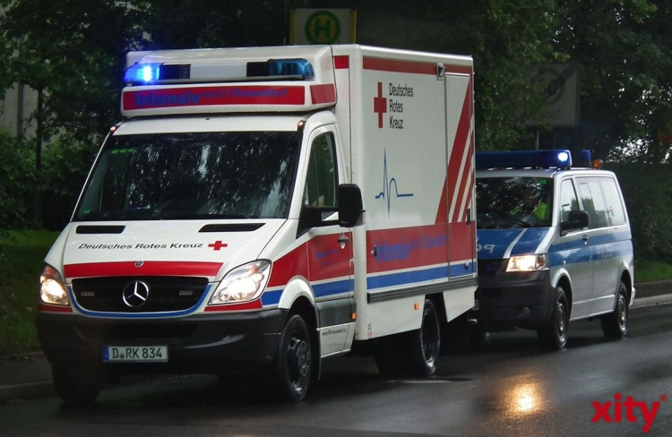 Alleinunfall in Düsseldorf-Golzheim (xity-Foto: M. Völker)
