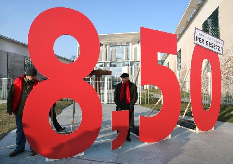 Unions-Arbeitnehmer warnen vor Ausnahmen bei Mindestlohn (© 2014 AFP)