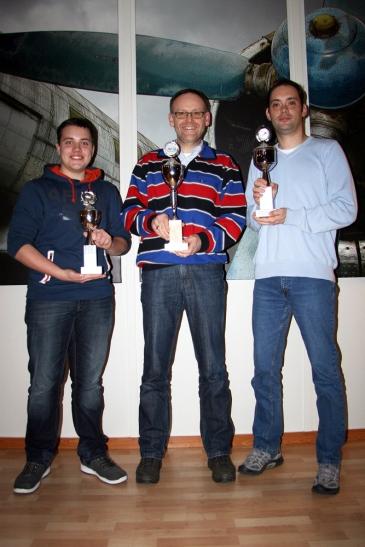 Timo Angenendt, Thomas Wiehle, Frank Bolz Sieger des VfS-Vereinswettbewerbs 2013 (Foto: Segelflug Krefeld e. V.)