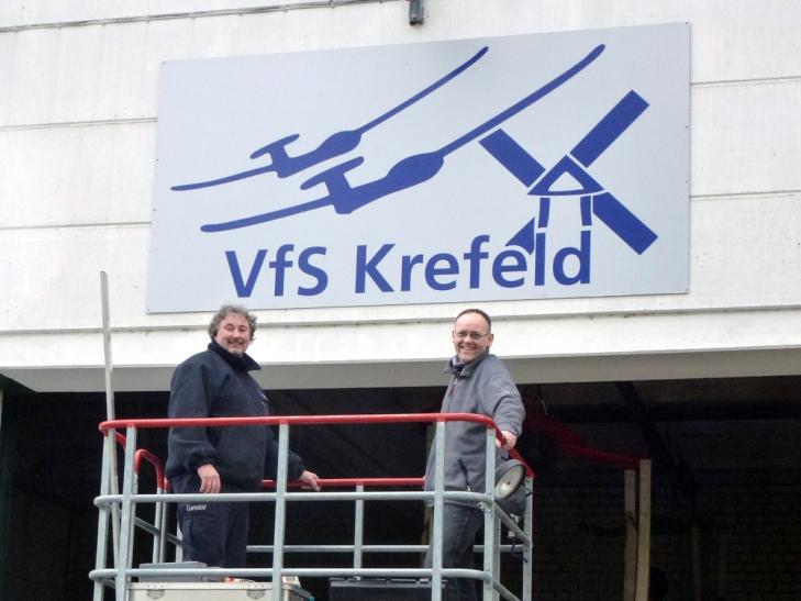 Das neue VfS Hallen-Logo (Foto: Segelflug Krefeld e. V.)