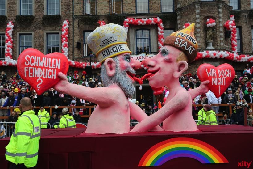 Auch die Debatte um die Diskriminierung von Homosexuellen in Russland wurde von Tilly aufgegriffen. (xity-Foto: D. Creutz)