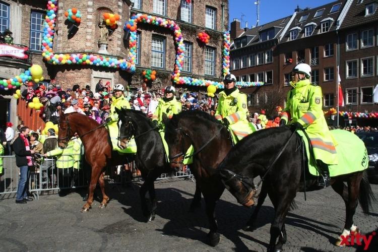 Polizei Düsseldorf zieht Bilanz zum Rosenmontag 2014 (xity-Foto: M. Völker)
