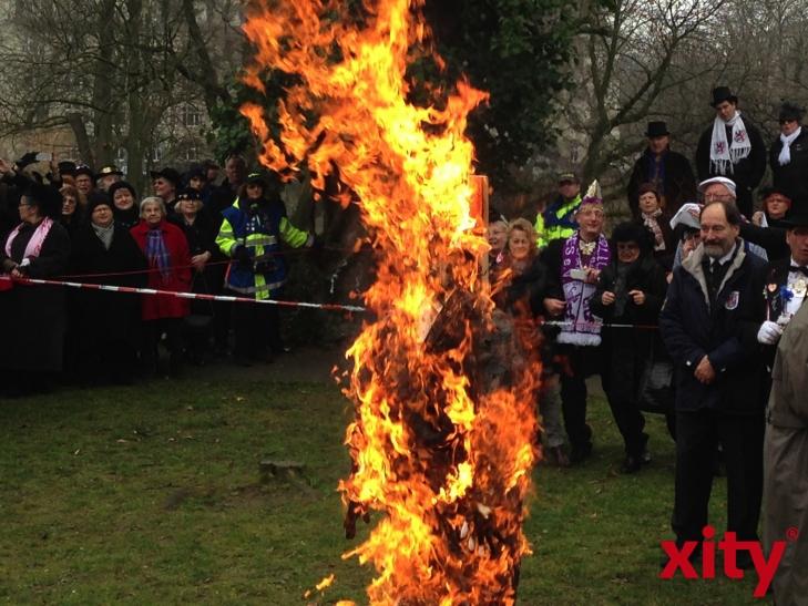 Es brannte lichterloh (xity-Foto: H.Müller)