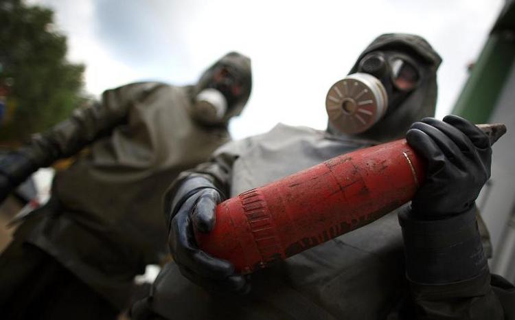 Verbrennung von Reststoffen syrischer C-Waffen ab Juni (© 2014 AFP)