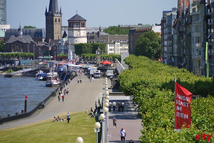 Die Bezirksregierung Düsseldorf legt das Rhein-Überschwemmungsgebiet fest (xity-Foto: D. Postert)