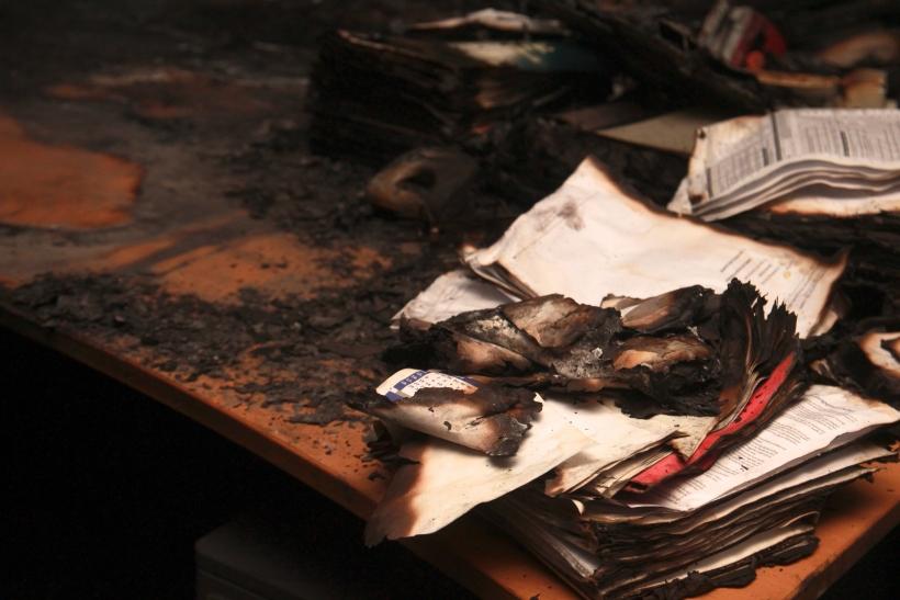 Die Anwaltskanzlei am Höherweg 101 ist zerstört (xity-Foto: P. Basarir)