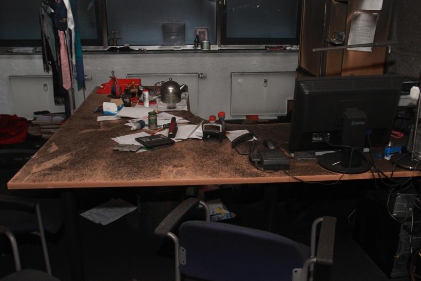 Selbst wenn das Büro wieder renoviert werden könnte, wären die Opfer nicht in der Lage hier zu arbeiten (xity-Foto: P. Basarir)