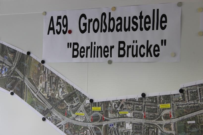 Weitere Sanierung auf der A59 (xity-Foto: H. Müller)