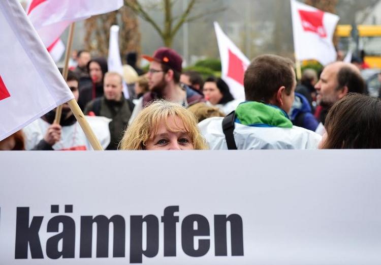 Verdi organisiert Warnstreiks im öffentlichen Dienst (© 2014 AFP)