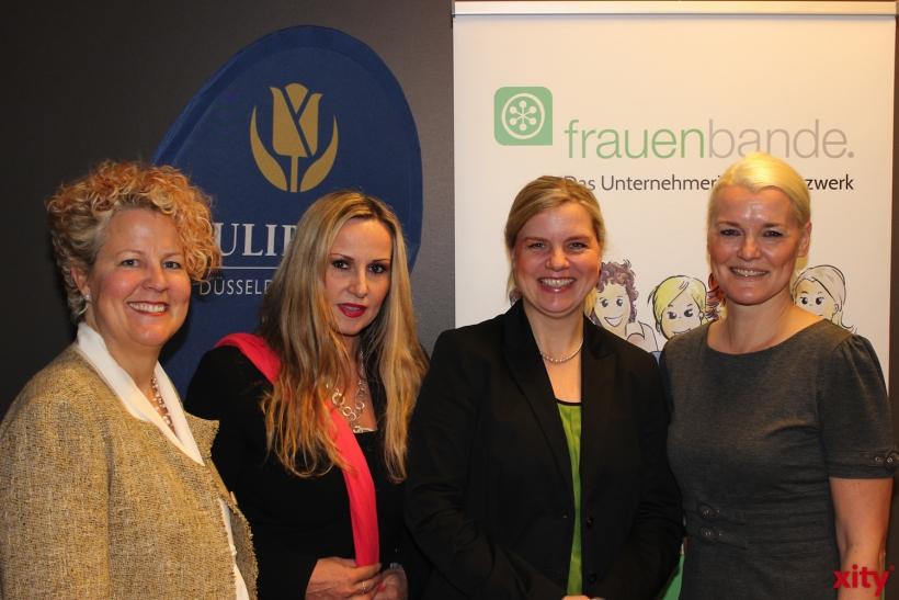 Nicola Stratmann (EVENT & FAIR Hotel Tulip Inn Düsseldorf Arena), Elisabeth Wilfart (Gleichstellungsbeauftragte),  Dagmar Schulz (1a-STARTUP), Alexandra Iwan (PR + Presseagentur Textschwester)