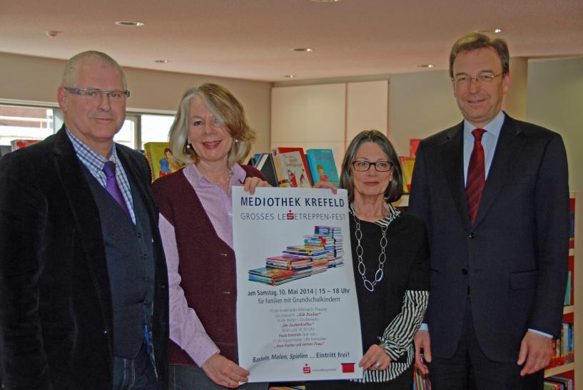 Das Lesetreppenfest der Mediothek ist Krefelder Familien nur zu empfehlen. (Foto: Stadt Krefeld)