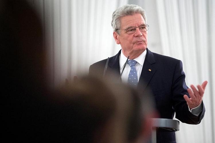 Gauck lobt Berliner Krisenmanagement im Krim-Konflikt (© 2014 AFP)