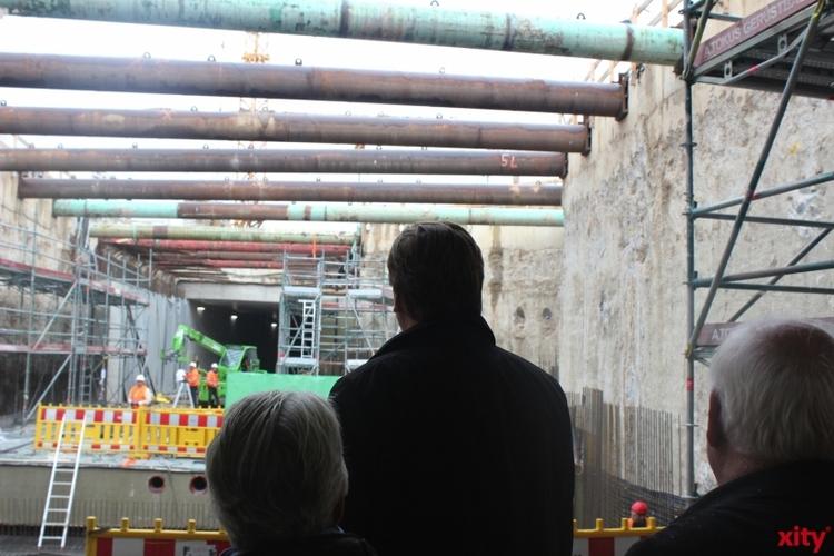 Ein Blick in den noch in der Bauphase befindlichen Süd-Nord-Tunnel (xity-Foto: D. Postert)