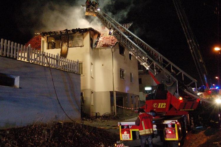 Zwei Jugendliche sterben bei Wohnungsbrand in Rottweil (© 2014 AFP)