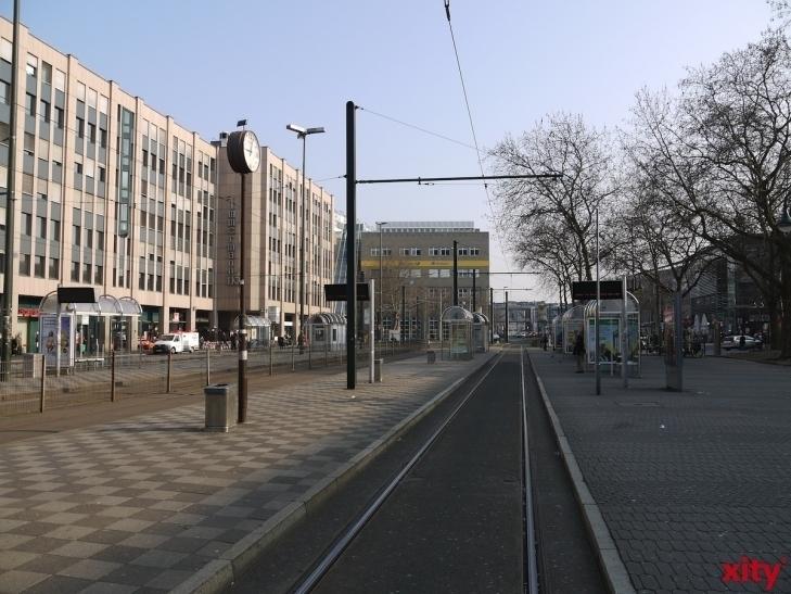 Viele Rheinbahn-Kunden werden Mittwoch und Donnerstag verwaiste Gleise vorfinden (xity-Foto: D. Postert)