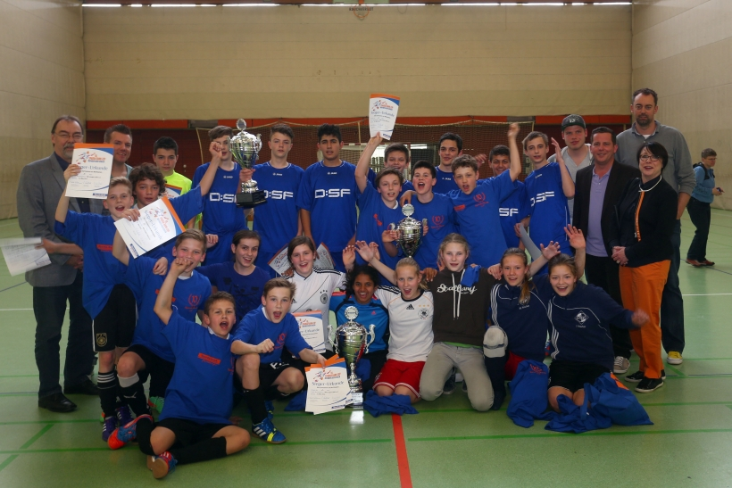 Die Sieger des Sparda-Bank-Cups in der Runde der weiterführenden Schulen. (Foto: Stadt Krefeld)