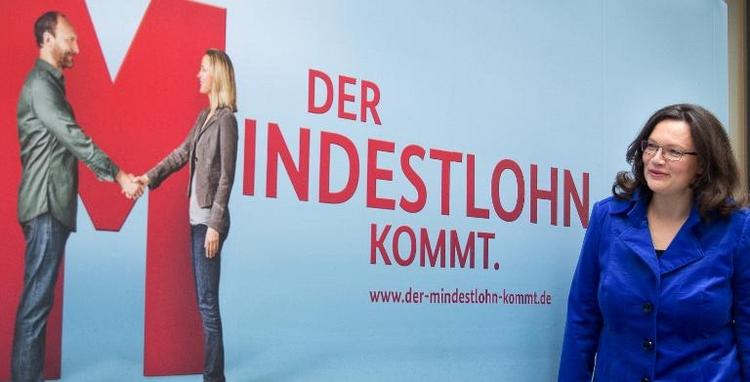 Mindestlohn-Ausnahmen stoßen in SPD auf Widerstand (© 2014 AFP)