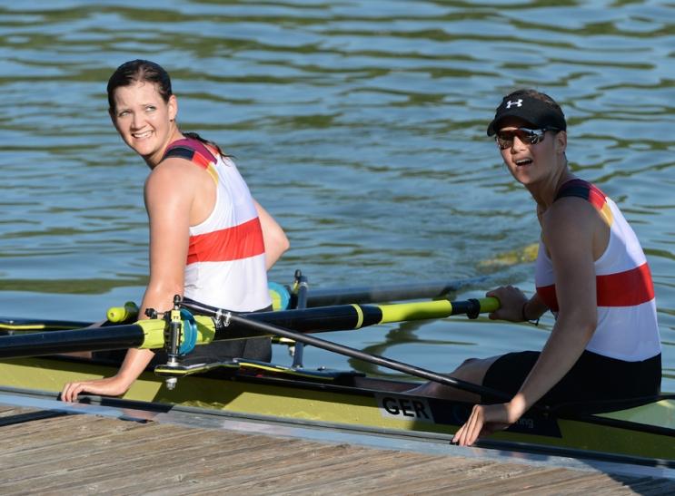 Sara und Miriam Davids vom Crefelder Ruder-Club stellen sich auch der national Konkurrenz. (Foto: Sabine Tschäge/Crefelder Ruder-Club)