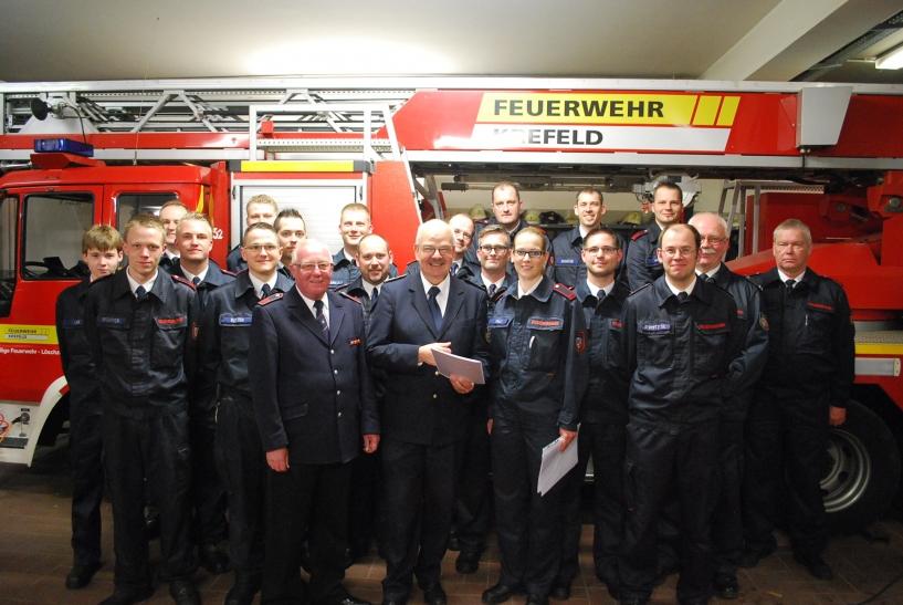 Ein erfolgreiches Jahr für den Löschzug Hüls. (Foto: Freiwillige Feuerwehr Krefeld)
