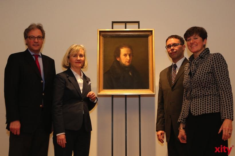 (v.l.) Hans-Georg Lohe, Marie Gervais Vidricaire, Clarence Epstein und Dr. Susanne Anna (xity-Foto: D. Creutz)