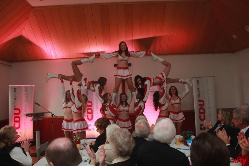 Cheerleader zur Unterhaltung bei dem Jahresempfang (xity-Foto: P.Basarir)