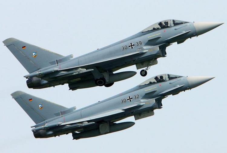 Berlin entsendet Eurofighter ins sechs Baltikumn (© 2014 AFP)
