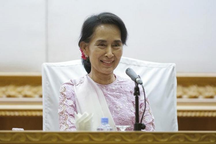 Suu Kyi kommt erstmals nach Berlin (© 2014 AFP)