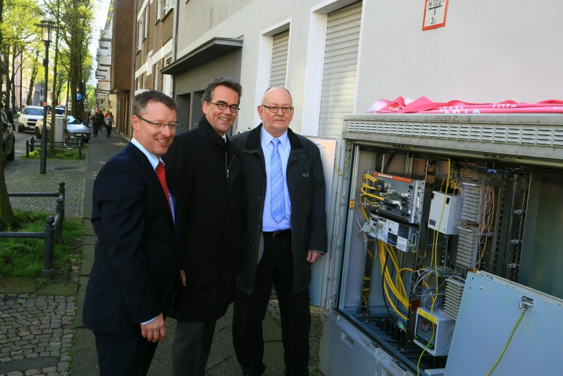 80 Kilometer Glasfaserkabel werden von Telekom in Krefeld neu verlegt. (Foto: Stadt Krefeld)