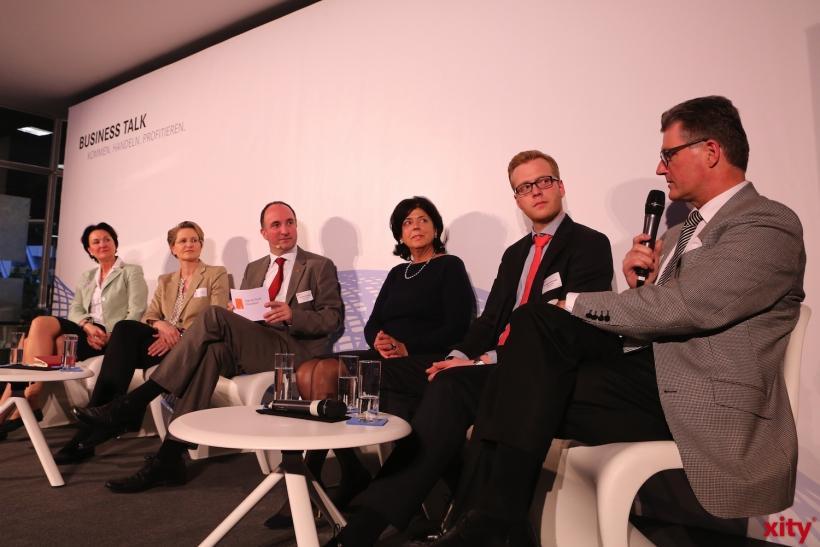 Business Talk bei der Arbeitsagentur Düsseldorf (xity-Foto: D. Creutz)