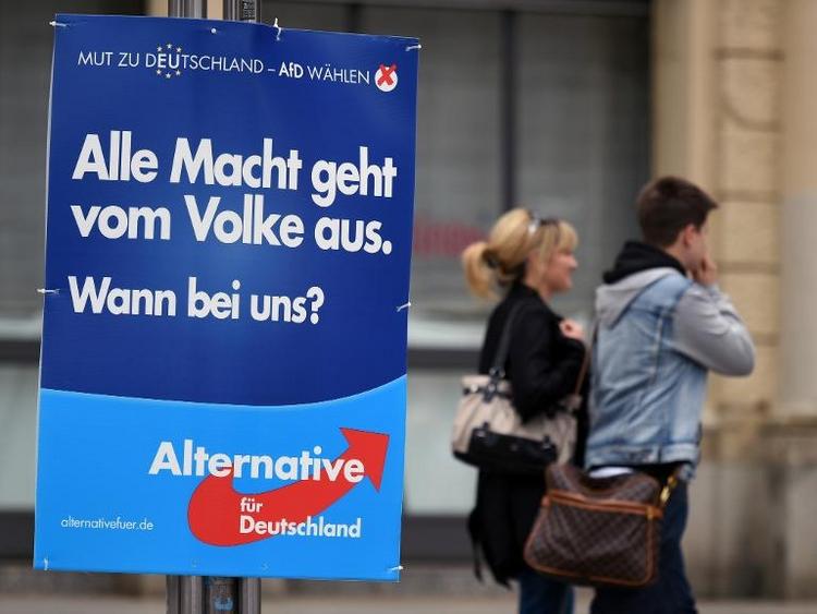 AfD kurz vor Europawahl in Umfrage bei sechs Prozent (© 2014 AFP)